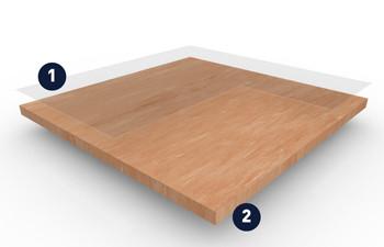 美宝琳150-洁福同质透心地板