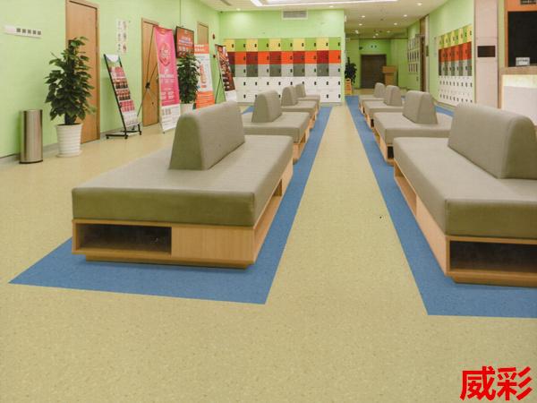 卡曼国际-威彩密实底商用卷材pvc塑胶地板