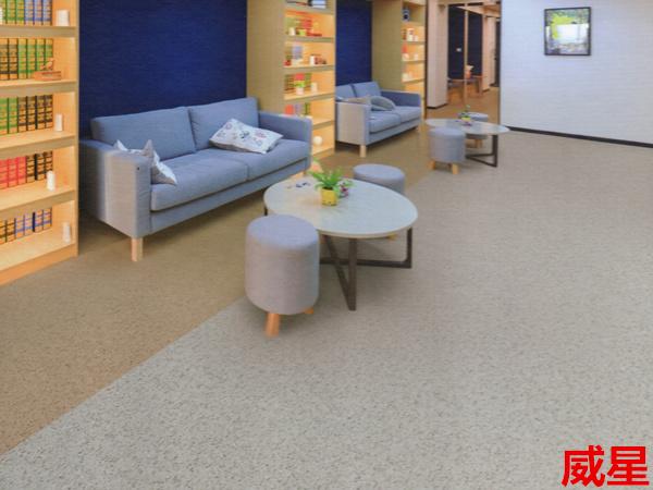卡曼国际-密实底威星商用卷材塑胶地板