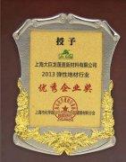 2013年度大巨龙pvc地板工厂获得优秀企业奖