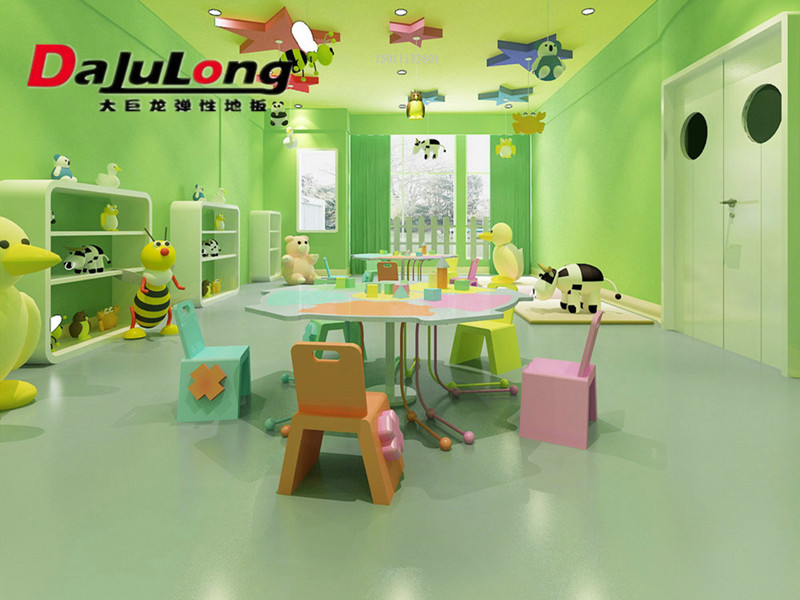 为什么幼儿园选择大巨龙塑胶地板.pvc地板